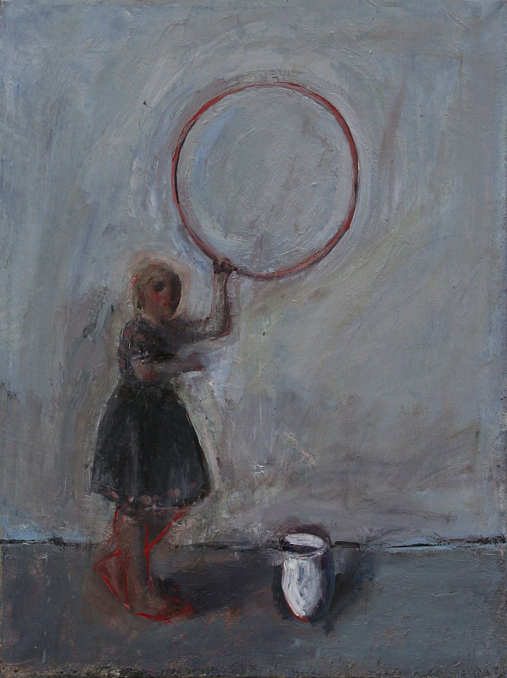 Chuck Bowdish, Girl with Red Hula Hoop 2014, oil on canvas