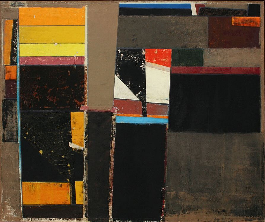 Richard Olsen ,   Wall LI (51)  ,  1988- 1989     oil on linen ,  40