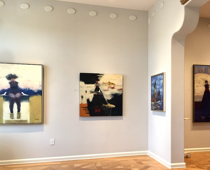 Cathy Hegman: Mirror's of Ourselves, Intimate paintings of Figures & Animals - Installation View