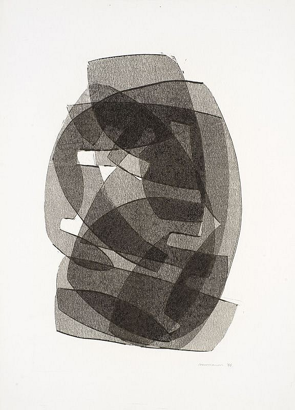 Otto Neumann ,   Black and White Abstract II  ,  1970     Montotype on paper     OT 094034     Price Upon Request