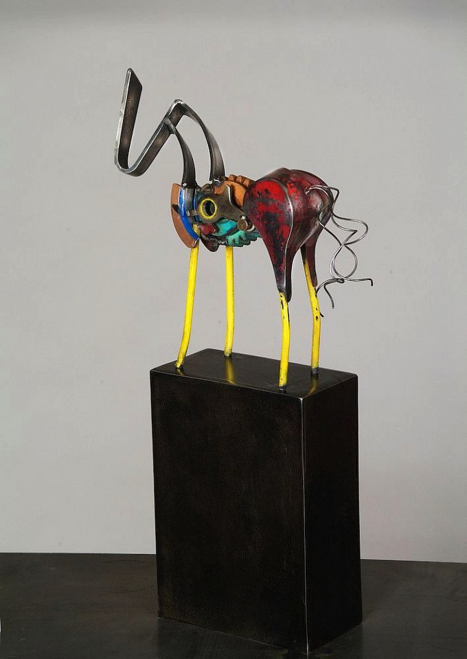Dave Wertz ,   Double Clutch Dorothy  ,  2015     Mixed metal media ,  8 x 6 x 3 in. (20.3 x 15.2 x 7.6 cm)     DW 31     Price Upon Request