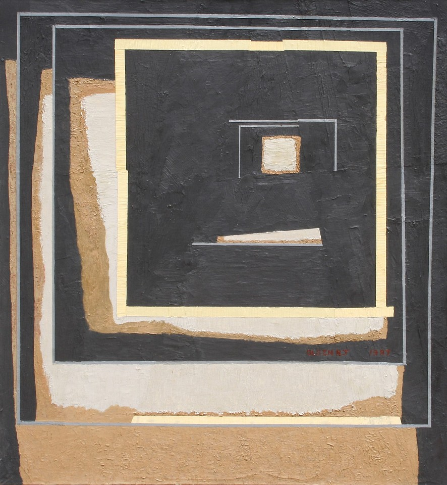 Richard Olsen ,   Wall XXX No.2 (30 No2) State 2  ,  1986     oil on linen ,  36 x 33 in. (91.4 x 84.5 cm)     RO 26     Price Upon Request