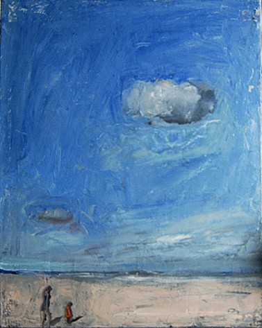 Chuck Bowdish<br/> <i>Clouds on The Beach</i>, 2012