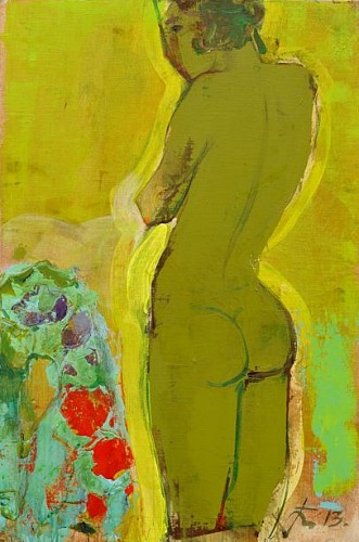 Exhibition: Salon Style, Work: Serhiy Hai Standing Green Nude, 2013