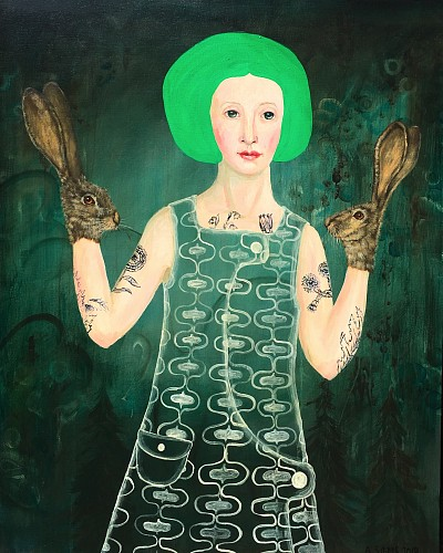 Exhibition: Seven Artists Figurative Show, Work: Anne Siems Green Hair, 2019