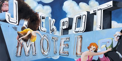 Exhibition: Seven Artists Figurative Show, Work: Melissa Sims There She Gets Donna /Jack Pot Motel, 2019