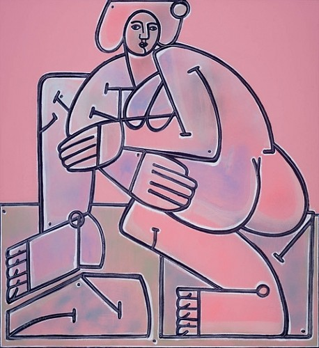 Exhibition: America Martin Solo-Show, Work: Woman in Pink, 2020