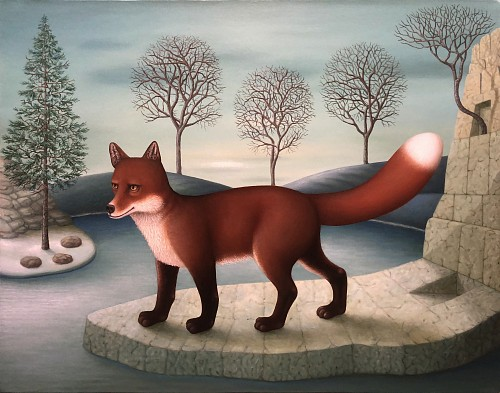 Exhibition: The Mysterious World: Charles Keiger, Steve Moors, Melissa Sims &  Mario Soria, Work: Charles Keiger The Thaw (Red Fox), 2020